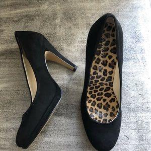 Franco Sarto Black Suede Heels Size 7